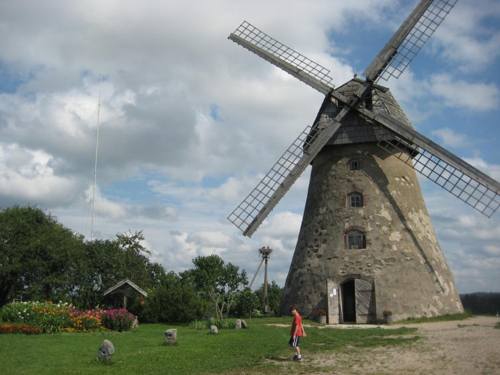 Windmill in Gauja National Park, Latvia