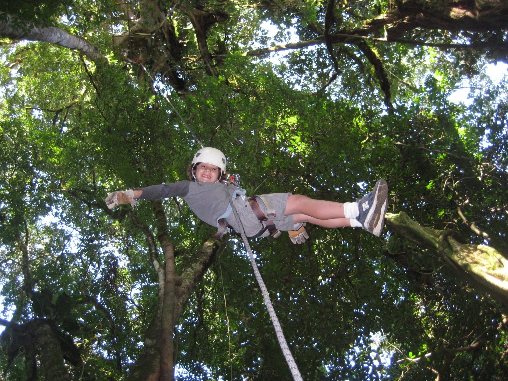 Rapelling on the Original Canopy Tour